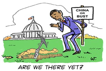 Why would Obama want to dig a ditch to China?