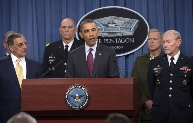 President Obama at a recent Pentagon briefing.