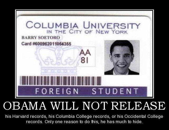 Obamas college records